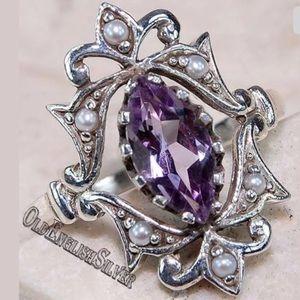 Amethyst SS Ring
